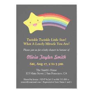 Cute Twinkle Twinkle Little Star Baby Shower Card