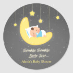 Cute Twinkle Twinkle Little Star Baby Shower Classic Round Sticker