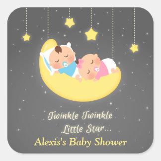 Cute Twinkle Twinkle Little Star Twins Stickers