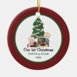 Cute Twins 1st Christmas Personalized Ceramic Ornament