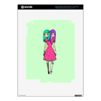Cute Twins Decal For iPad 3