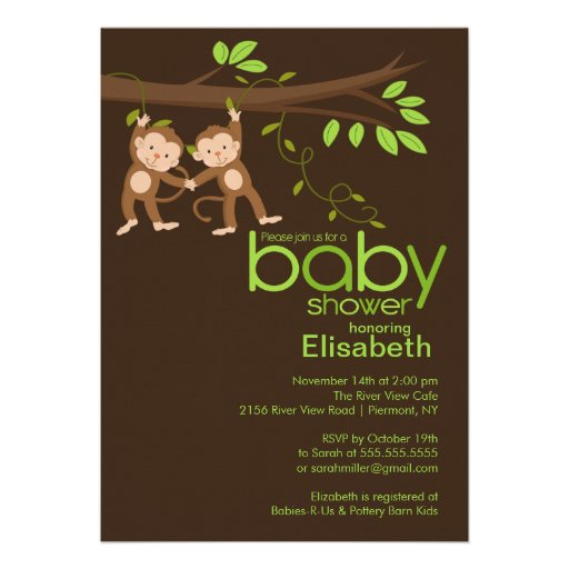 baby shower off right with our cute modern monkey baby shower
