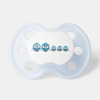 Cute twitter bird family cartoon baby pacifier