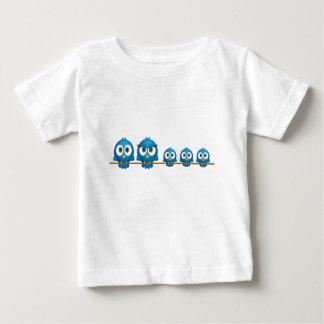 Cute twitter bird family cartoon baby shirt