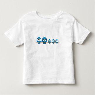 Cute twitter bird family cartoon toddler t-shirt