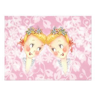Cute Two Brides Pink Gay Wedding Invitation