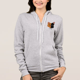 Cute Two Color Orange and Black Chimera Cat Hoodie
