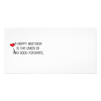 """Cute, """"Two Good Forgivers"""" Marriage quote Customized Photo Card"""
