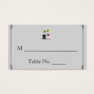 Cute Two Grooms Cartoon Gay Wedding Place Cards