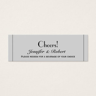 Cute Two Grooms Kissing Gay Wedding Drink Tickets