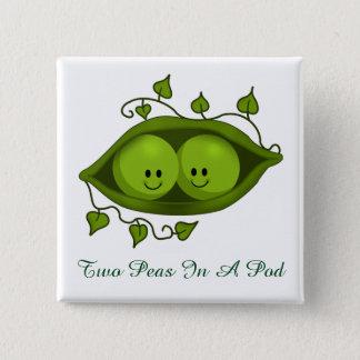 Cute Two Peas In A Pod Button