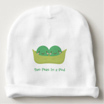 Cute Two Peas in a Pod For Baby Twins Baby Beanie