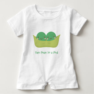 Cute Two Peas in a Pod For Baby Twins Baby Romper