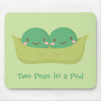 Cute Two Peas in a Pod For Mommy Mouse Pad