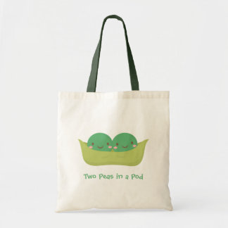 Cute Two Peas in a Pod For Mommy Tote Bag