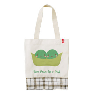 Cute Two Peas in a Pod For Mommy Zazzle HEART Tote Bag