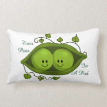 Cute Two Peas In A Pod Lumbar Pillow