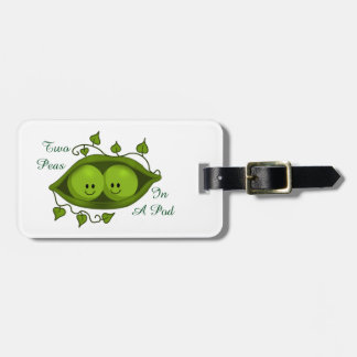 Cute Two Peas In A Pod personalized Bag Tag
