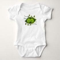Cute Two Peas In A Pod Twins Baby Bodysuit