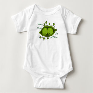 9c99318c96213 Cute Two Peas In A Pod Twins Baby Bodysuit