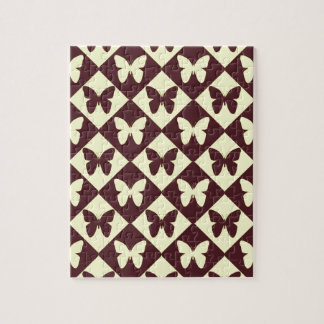 Cute Two-Tone Butterfly Pattern Jigsaw Puzzle
