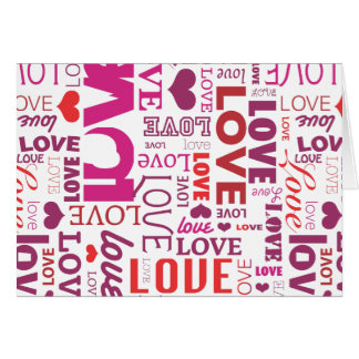 Cute typography love valentines card