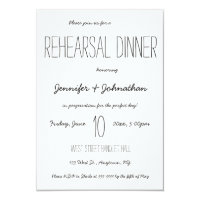 Cute typography rehearsal dinner invitations