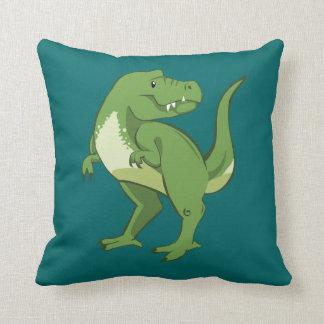 Cute Tyrannosaurus Rex Cartoon Pillow