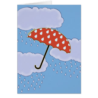 Cute Umbrella Note Cards