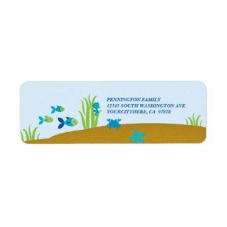Cute under the sea avery address label label