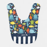 Cute Under the Sea Baby Bib