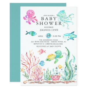 Cute invitations announcements zazzle cute under the sea baby shower invitation filmwisefo
