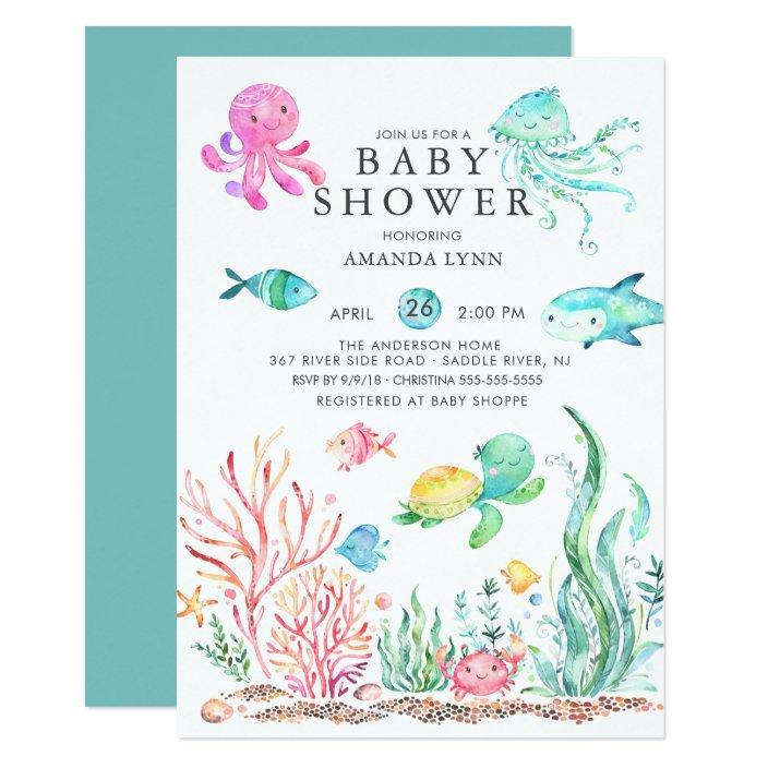 Sea Baby Shower Invitation