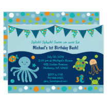 Cute Under the Sea Birthday Card