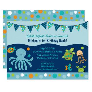 Cute Under the Sea Birthday Card