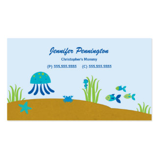Cute under the sea childrens calling business card