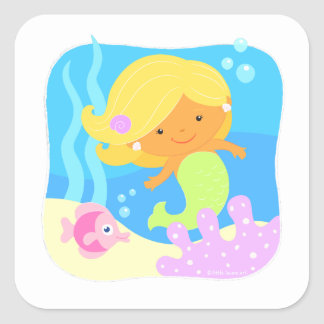 Cute Under the Sea Mermaid Sticker