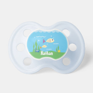 Cute Under The Sea Ocean Fish Starfish And Crab Pacifier