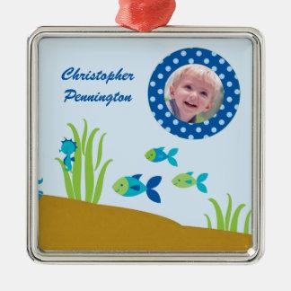 Cute under the sea personalized photo ornament