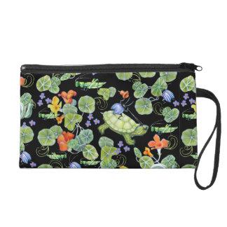 Cute Underbrush Insect Bug Art Bag Wristlet Purse