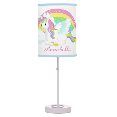 Cute Unicorn add name girls lamp