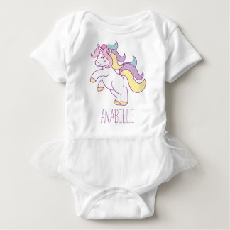 Cute Unicorn Baby Bodysuit