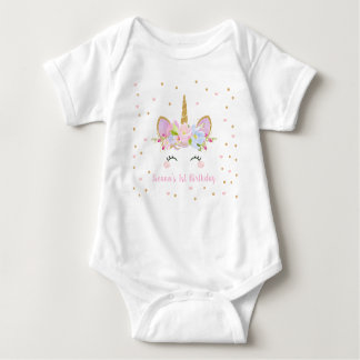 Cute Unicorn Baby Bodysuit One Piece 1st Birthday