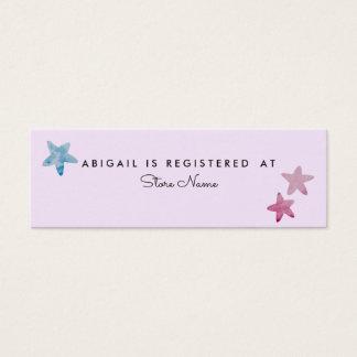 Cute unicorn baby to shower mini business card