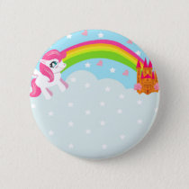 cute unicorn Badge Button