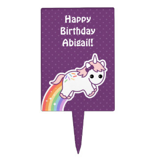 Cute Unicorn Birthday Cake Topper