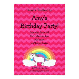 Cute unicorn birthday invitation