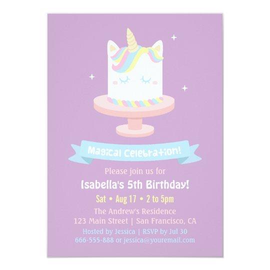 cute_unicorn_cake_girls_birthday_party_invitations r0d71b8521a0a4cd99cf5e9a9ec4405bc_zk9li_540?rlvnet=1 cute unicorn cake girls birthday party invitations zazzle,Cake Decorating Birthday Party Invitations