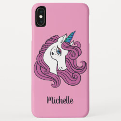 Cute Unicorn custom name & color phone cases
