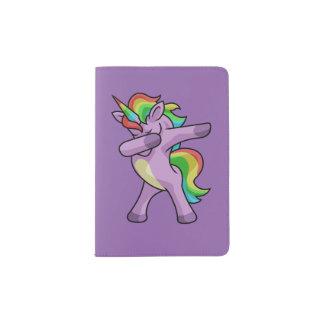 Cute Unicorn Dabber Dance Passport Holder